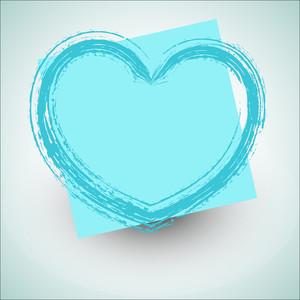 Rough Grunge Love Heart Design