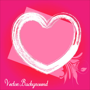 Rough Heart Frame Flourish Background