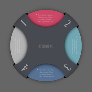 Round Design Template For Infographics