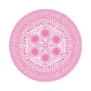 Round Lace Doily Background For Sewing