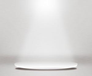 Round Podium White Background