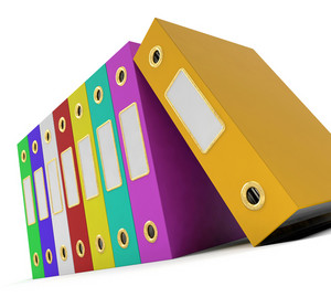 Row Of Colorful Files To Get The Office Organized