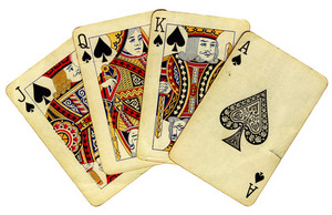 Royal Flush (isolated On White Background)