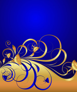 Royal Golden Floral Background