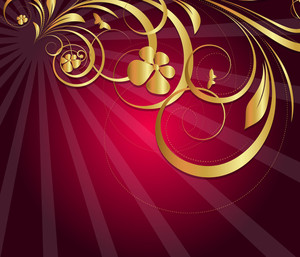 Royal Sunburst Flora Holiday Background