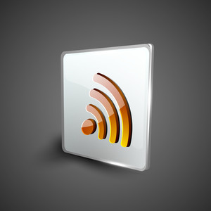 Rss Feed Symbol Icon Set.