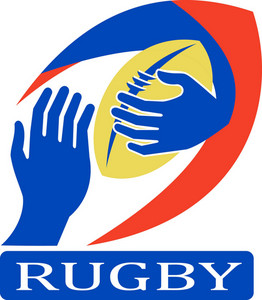 Rugby Ball Hand Holding