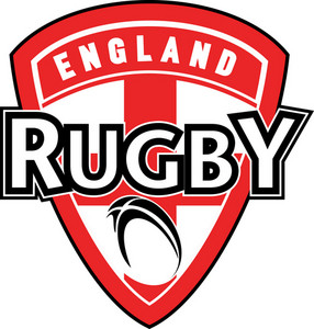 Rugby Ball Shield England Cross Flag