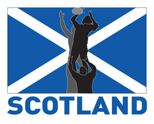 Rugby Lineout Flag Scotland