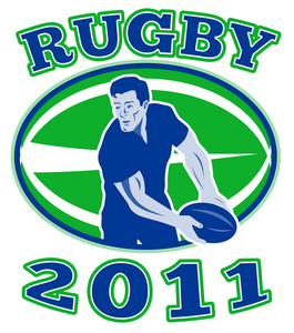 Rugby Passing Front Ball 2011