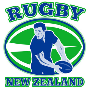 Rugby Passing Front Ball New Zealand