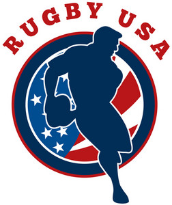 Rugby Player Flag United States Of America