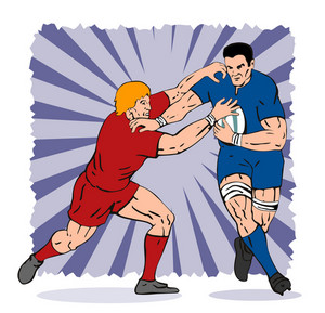 Rugby Player Tackling