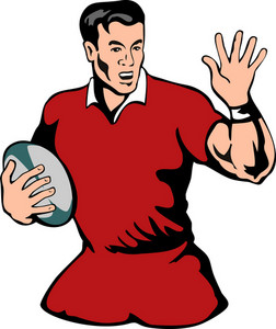 Rugby Running Fend