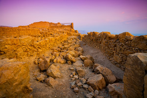 Ruins of King Herod's palace in Masada