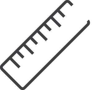Ruler Minimal Icon