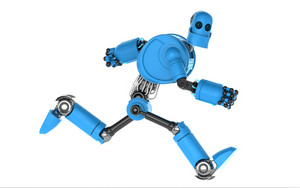 Running Blue Robot.
