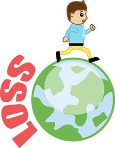 Running Out Of Loss - Business Cartoon