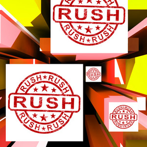 Rush On Cubes Showing Express Delivery