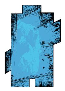 Rusty Grunge Banner Frame Vector