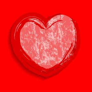 Rusty Grunge Heart Frame Banner