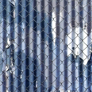 Rusty Grunge Lattice Fence