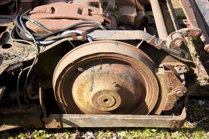 Rusty Steel Wheels