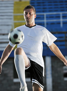 Soccer player in action
