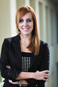 Student girl portrait at university campus