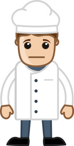 Sad Male Chef Vector