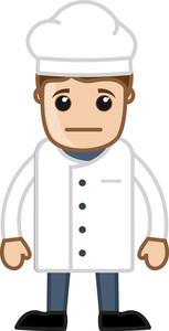 Sad Male Chef Vector