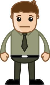 Sad Professional - Business Cartoon Character Vector