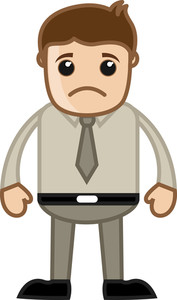 Sad Sales Man - Business Cartoon Character Vector
