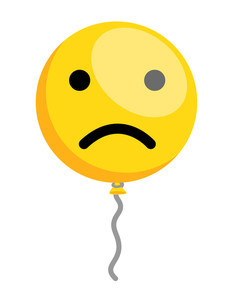 Sad Smiley Balloon