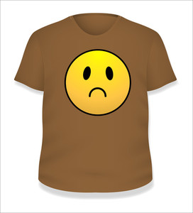Sad Smiley T-shirt Design Vector Illustration Template