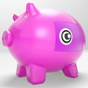 Safe Piggy Shows Secure Savings Locked Closed