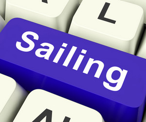 Sailing Key Means Voyage Or Travel By Water