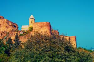 Saint Nicholas church in Narikala fortress in Tbilisi