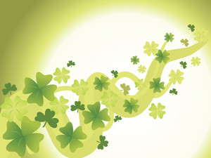 Saint Patricks Day Background With Clover