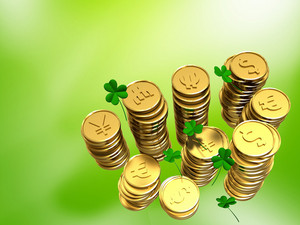 Saint Patricks Day Currency Coins