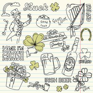 Saint Patrick's Day Doodles - Vintage Style