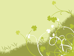 Saint Patricks Day Floral Background