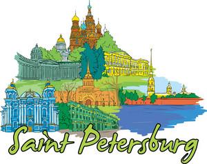 Saint Petersburg Vector Doodle