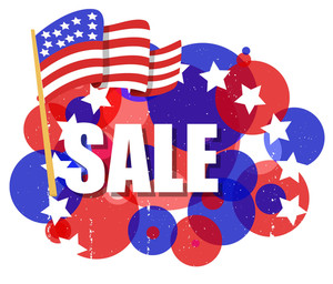 Sale 4th Of July Vector Theme Design