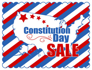Sale Background Constitution Day Vector Illustration