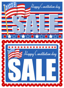 Sale Background For  Constitution Day Vector Illustration