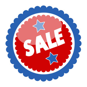 Sale Badge And Sticker For Various Usa Nation Theme Holidays Vector
