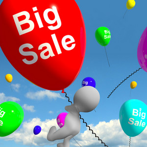 Sale Balloons Showing Promotion And Reductions Online