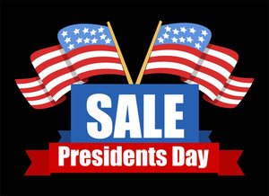 Sale Banner Design Presidents Day Vector Illustration
