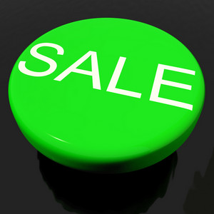 Sale Button As Symbol For Discounts Or Promotion